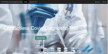 Contactless Covid Diagnostic Test With Chatbot